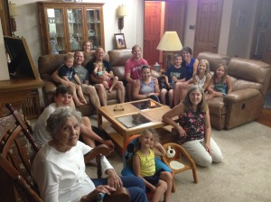 hanging with cousins and Uncle Dave and Aunt Jan